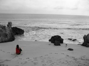 Postal: Pensamientos en soledad