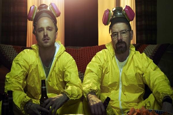 Walter y Jesse tomando cerveza