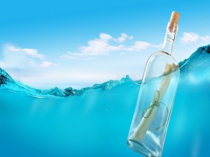 Postal: Mensaje en una botella