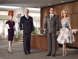 """Muñecos de algunos personajes de la serie """"Mad Men"""""""