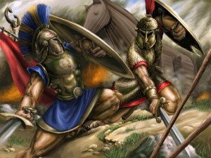 Postal: Aquiles vs Hector