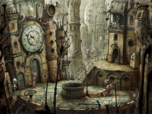 Postal: Plaza en Machinarium