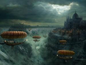 Barcas en el aire