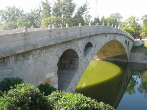 Postal: Puente de Anji sobre el río Xiao (China)