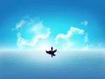 Góndola en el mar