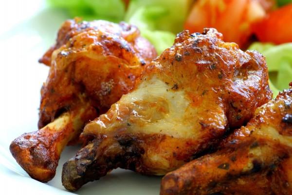 Muslos de pollo asados