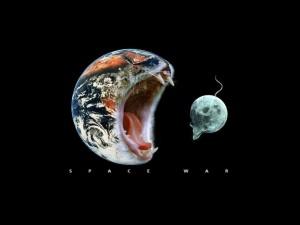 La Tierra comiéndose a La Luna