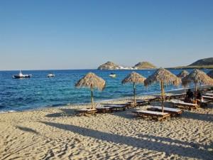 Postal: Playa en Míkonos, Grecia