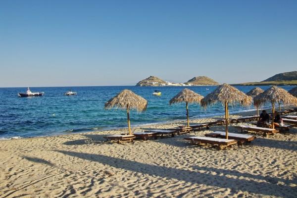 Playa en Míkonos, Grecia