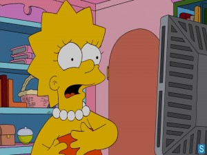 Lisa Simpson asustada