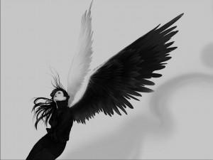 Postal: Ángel negro