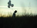 Paseando con globos