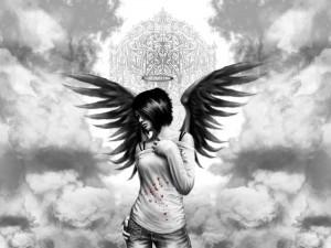 Postal: Un ángel en el cielo