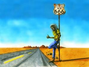 Postal: Eddie en la Ruta 666