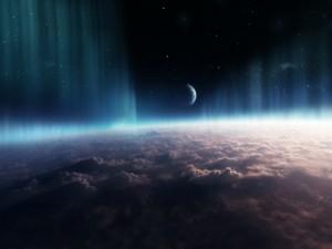 Postal: Nubes y Aurora