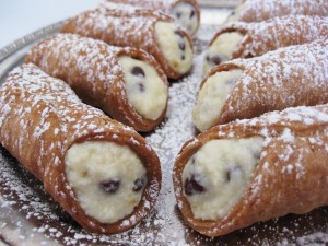 Cannoli con pepitas de chocolate
