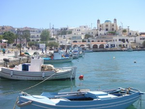 Postal: Puerto de la isla Lipsi (Grecia)