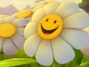 Postal: Margarita sonriente