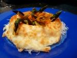 Corona de queso con verduras