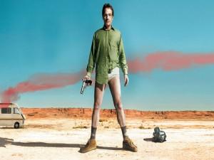 Postal: Walter en el desierto sin pantalones