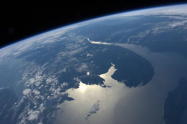 Una zona de la Tierra vista desde el espacio