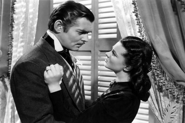 """Vivien Leigh y Clark Gable en """"Lo que el viento se llevó"""""""