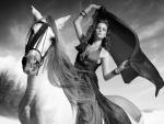 Mujer con un caballo