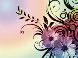 Postal: Motivos florales