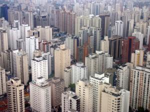 Postal: Edificios en una gran ciudad