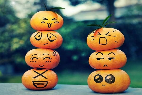 Mandarinas emoticón