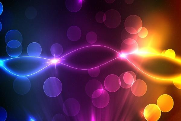 Líneas y círculos de colores