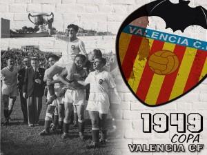 Postal: Valencia C.F. Copa 1949