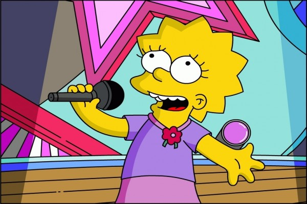 Lisa Simpson cantando