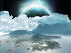 Postal: Planeta creciente