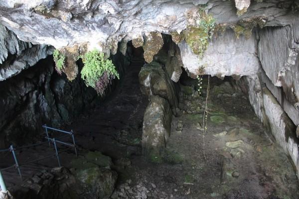 Interior de la cueva del Pindal, Ribadedeva, Asturias