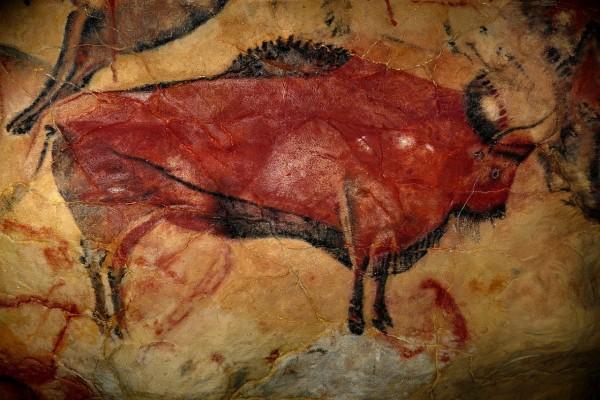 Reproducción de un bisonte de la Cueva de Altamira