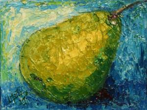 Pintura de una pera