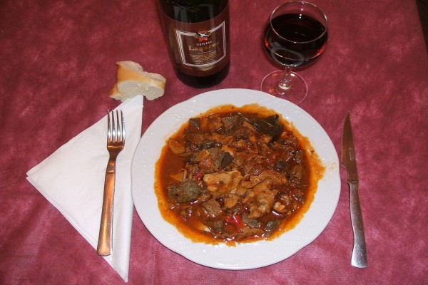 Chanfaina, plato elaborado con vísceras de cordero