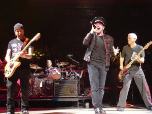 Postal: Integrantes del grupo U2