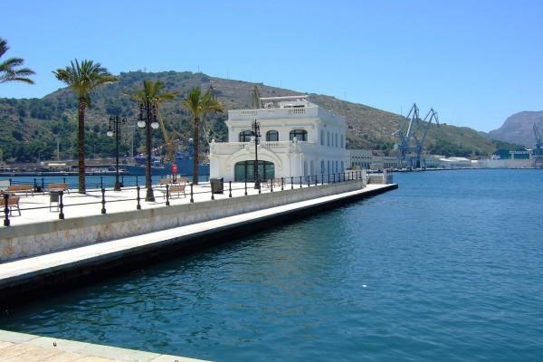 Antiguo Club de Regatas o Club Náutico en el Puerto de Cartagena (Murcia)