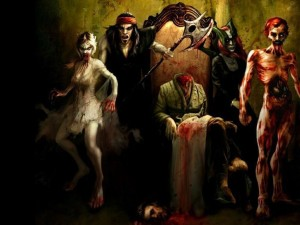 Postal: Retrato de zombis