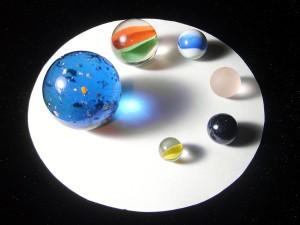Canicas de diversos tamaños y colores