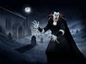 Postal: Retrato de Drácula