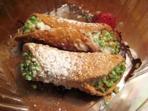 Cannoli con mascarpone y pistachos