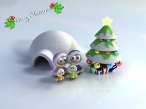 Navidad para una familia esquimal