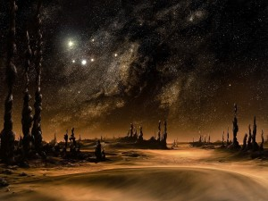 En un planeta desconocido