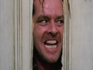 """Jack Nicholson en """"El Resplandor"""""""