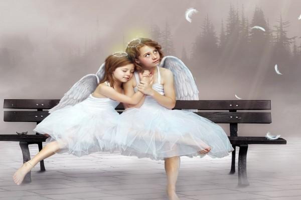 Dos hermosos ángeles