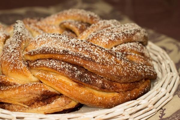 Pan dulce trenzado