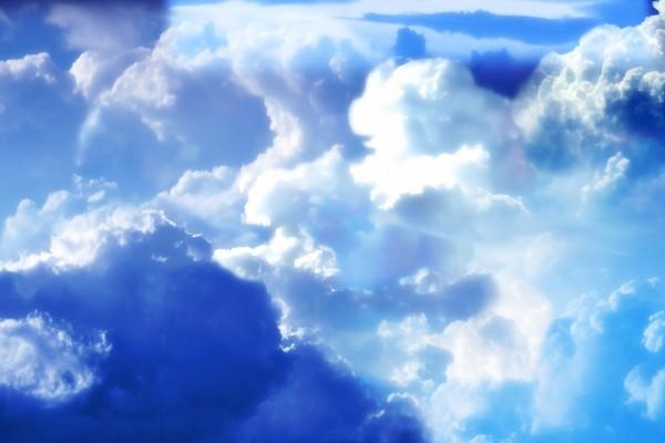 Nubes azuladas